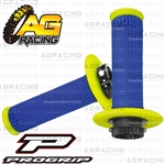ProGrip 708 Twist Grips with 5 Cams Flo Yellow Blue Motocross Enduro Quad ATV