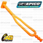 Apico Orange Rubber Side Stand Kickstand Headlight Battery Strap Husaberg FE TE 2009-2014