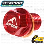 Apico Red Magnetic Sump Drain Bolt Plug M12x15mmx1.5 For Honda CR 85 2003-2007