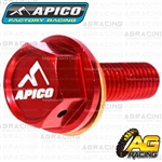 Apico Red Magnetic Sump Drain Bolt Plug M8x25mmx1.25 For Honda CRF 250R 2004-2009