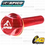 Apico Red Magnetic Sump Drain Bolt Plug M8x35mmx1.25 For Honda CRF 450X 2005-2017