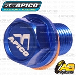 Apico Blue Magnetic Sump Drain Bolt Plug M12x15mmx1.5 For Honda CR 85 RB 2003-2007