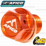 Apico Orange Magnetic Sump Drain Bolt Plug M12x12mmx1.5 For KTM EXC 250 Six Days 2001-2017