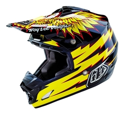 Troy Lee Designs SE3 Helmet Flight Black Yellow White Motocross Enduro