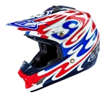 Troy Lee Designs SE3 Helmet Reflection White Blue Red Motocross Enduro