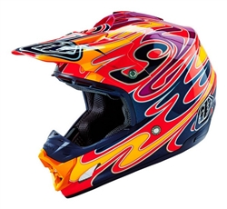 Troy Lee Designs SE3 Helmet Reflection Red Black Yellow Motocross Enduro