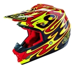 Troy Lee Designs SE3 Helmet Reflection Yellow Black Red Motocross Enduro