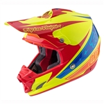 Troy Lee Designs SE3 Helmet Corsa 2 Yellow Red Blue Motocross Enduro