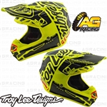 Troy Lee Designs 2019 SE4 Polyacrylite Youth Kids Helmet Factory Yellow