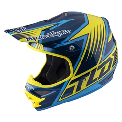 Troy Lee Designs Air Helmet Vengeance Yellow Black Blue Motocross Enduro