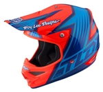 Troy Lee Designs Air Helmet Vengeance Orange Blue Motocross Enduro