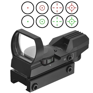 TRINITY Rifle Reflex Red And Green Sight With 4 Reticles.