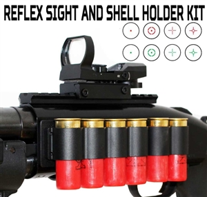 Tactical Scope Mount, Shell Holder and Reflex Sight Kit For Mossberg 500 590.