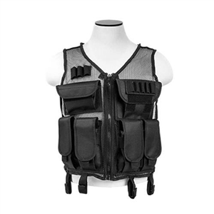 Lightweight Mesh Tactical Vest Black, M-XL, CMTV2951B