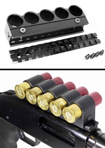 Mossberg 500 590 Scope Mount & Shell Holder Kit black.