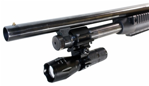 12 Gauge Pump Barrel/Magazine Mounted 1000 lumen LED Flashlight.