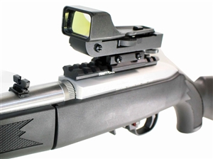 Reflex Sight With Rail Mount For Ruger 10-22 Rifle.