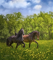 Summer Dance - Horses by Lois Stanfield