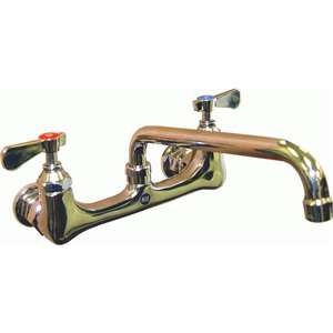 "AA-806G 8"" Heavy Duty Wall Mount Faucet w/ 6"" Spout"