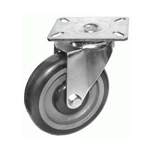"4-3/8""H. Plate Style PU Caster, 250lb Capacity For Frymaster & Other Deep Fryers KP4017"