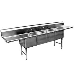 SE16204D18 4 Compartment Stainless Steel Sink