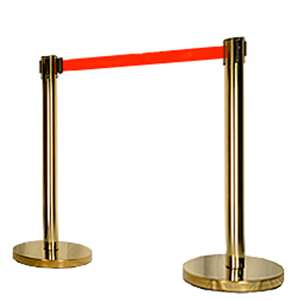 Apex HD-2PC-GLD-RED VIP Series Heavy Duty Retractable Belt Stanchions