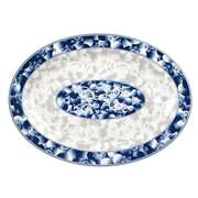 "Thunder Group 12"" X 8 5 / 8"" Platter, Blue Dragon, 1 Dozen, THUND-2012DL"