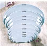 "Thunder Group 13 1 / 8"" X 10 3 / 8"" Platter, Blue Jade, 1 Dozen, THUND-2914"