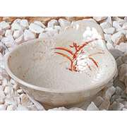 "Thunder Group 5 oz, 4 7 / 8"" X 4 1 / 4"" Dip Bowl, Gold Orchid, 1 Dozen, THUND-3601"