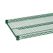 Thunder Group CMEP2442 Green Epoxy Wire Shelving