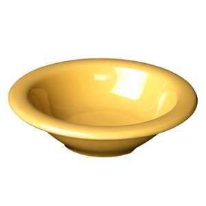 "Thunder Group 4 oz, 4 3 / 4"" Salad Bowl, Yellow, 1 Dozen, THUND-CR5044YW"