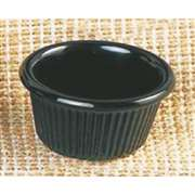 "Thunder Group 1 1 / 2 oz, 2 1 / 2"" Fluted Ramekin, Black, 4 Dozen, THUND-ML507BL"