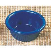 "Thunder Group 2 oz, 2 7 / 8"" Fluted Ramekin, Cobalt Blue, 4 Dozen, THUND-ML509CB"