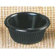 "Thunder Group 3 oz, 3 1 / 8"" Fluted Ramekin, Black, 4 Dozen, THUND-ML531BL"