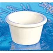 "Thunder Group 2 oz, 2 1 / 2"" Smooth Ramekin, Bone, 4 Dozen, THUND-ML535B"