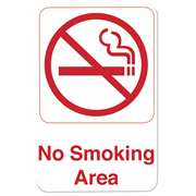 "Thunder Group 6"" X 9"" Information Sign With Symbols, No Smoking Area, 12 Each, THUND-PLIS6905RD"