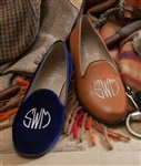 Women's Custom Monogram Suede Loafer