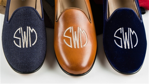 Women's Custom Monogram Velvet Loafer