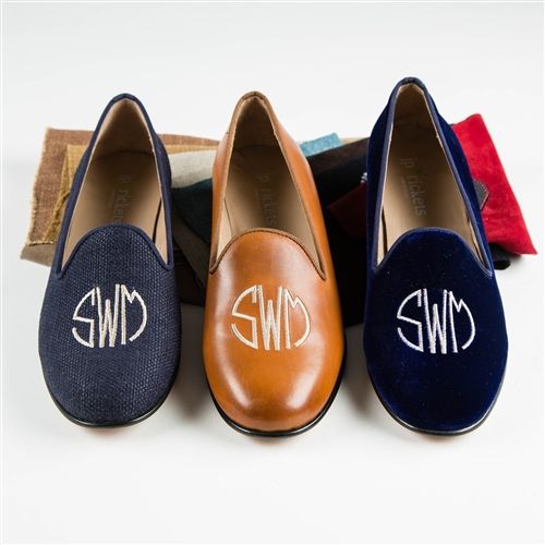 Women's Custom Monogram Linen Loafer