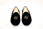 Men's Custom Monogram Velvet Loafer