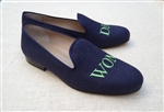 Men's Custom Monogram Linen Loafer