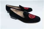 Men's COLLEGE OF CHARLESTON Black Suede Shoe (Crest)