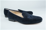 "Men's EMORY University "" Shield"" Blue Suede Shoe"