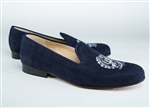 Men's GEORGETOWN University Crest Blue Suede Shoe