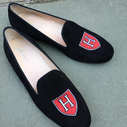 "Men's Harvard ""H"" Black Suede Shoe"