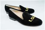 Men's Louisiana State University (LSU) Black Suede Shoe