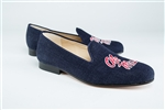 "Men's UNIVERSITY OF MISSISSIPPI Blue Linen Shoe ""Ole Miss"""