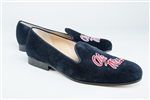 "Men's UNIVERSITY OF MISSISSIPPI Blue Suede Shoe ""Ole Miss"""