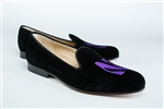 Men's Northwestern University Black Suede Shoes
