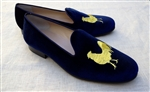 Men's Social Primer Blue Velvet Chanticleer Slipper